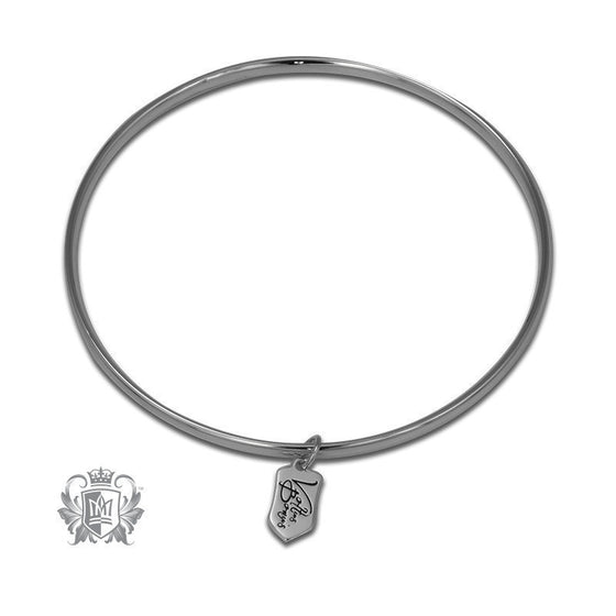 bangles silver original charm sterling disc hurleyburley bangle product personalised by