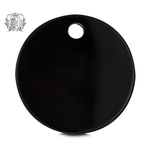 Small Black Onyx Background Disk -  Lunetta Background Disc - 2