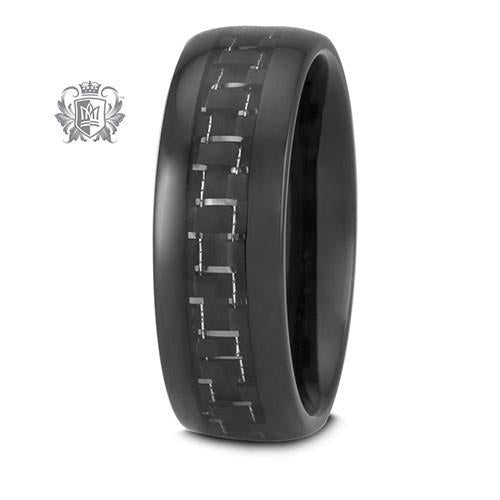 Tungsten Electro Black Carbon Band - Metalsmiths Sterling™ Canada