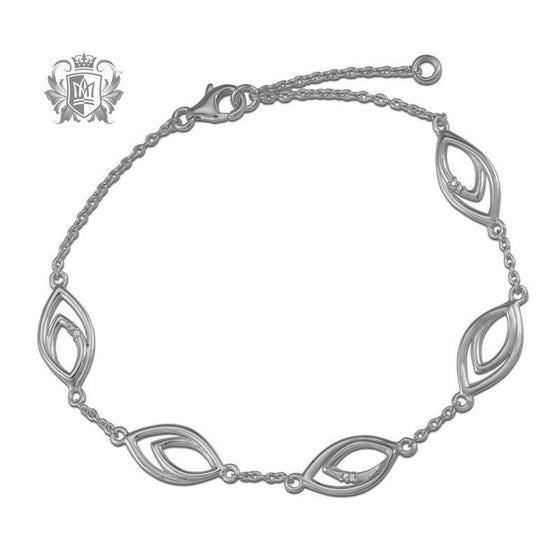 Petal Station Diamond Bracelet - Metalsmiths Sterling™ Canada