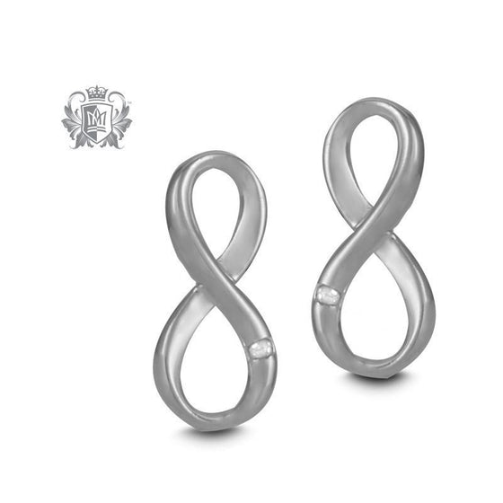 Infinity Diamond Earrings - Metalsmiths Sterling™ Canada