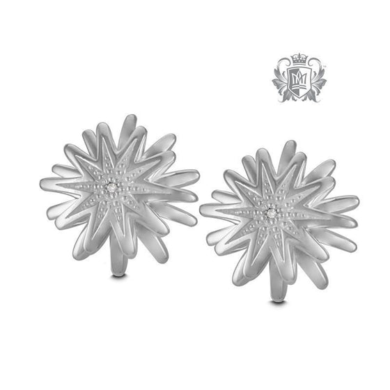 Flower Diamond Studs - Metalsmiths Sterling™ Canada