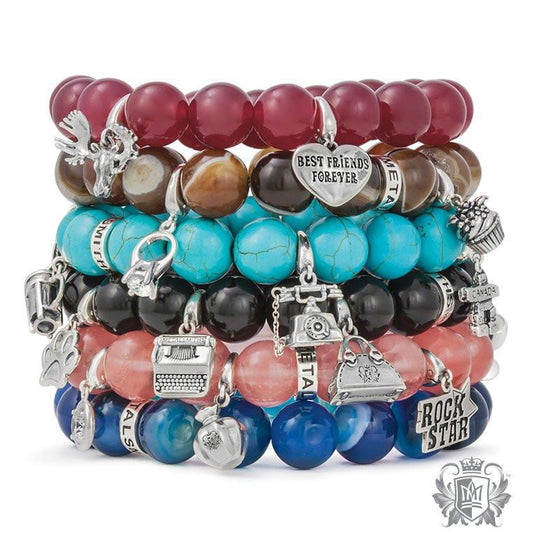 Gemstone Friendship Bracelet -  Charm Bracelets - 1