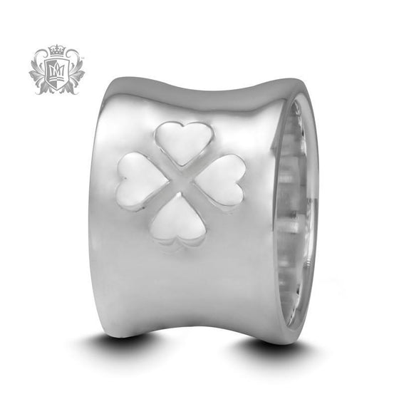 Flared Lucky Clover Band - Size 7 Rings - 1