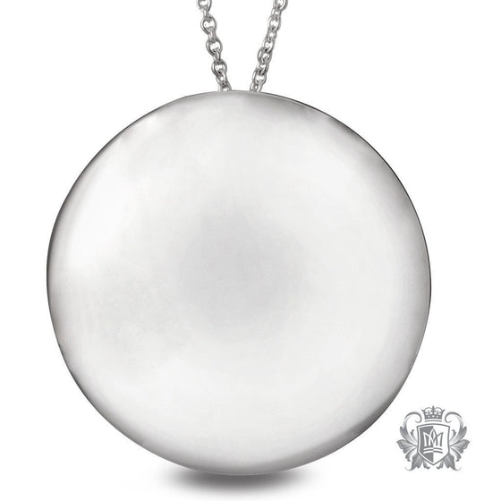 Large High Polish Disc Pendant - 18 inch chain Pendants - 1