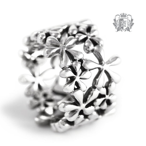 Antiqued Daisy Band - Metalsmiths Sterling™ Canada