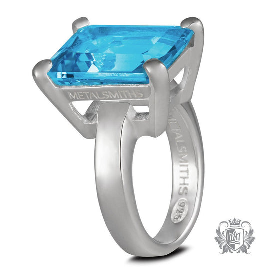 Lady of the Manor Ring - Blue Topaz / Size 6 Gemstone RIngs - 1