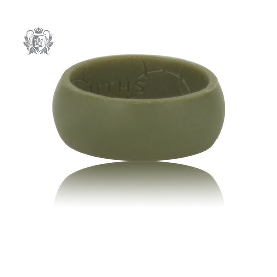 Metalsmiths Sterling Olive Silicone Ring - SAMPLE