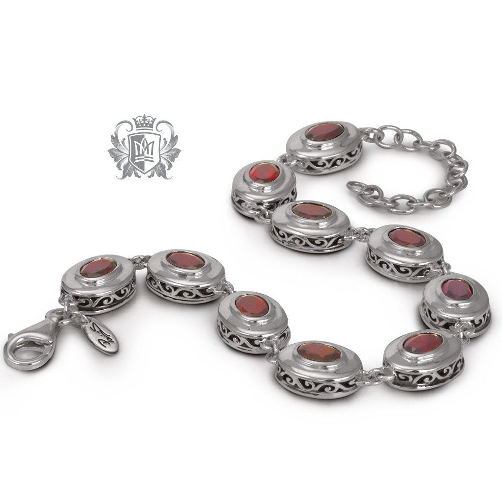 Scroll Gemstone Link Bracelet - Metalsmiths Sterling™ Canada
