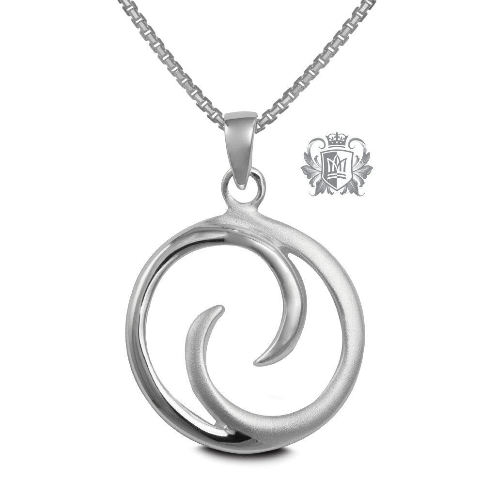 Cloudy Moon Pendant - 18 inch chain Pendants - 1