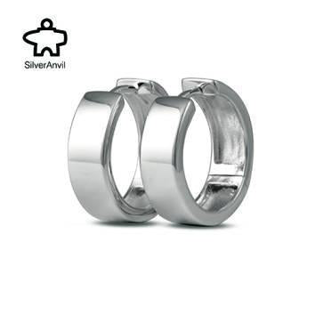 Square Hinged Huggie Earrings - Metalsmiths Sterling™ Canada