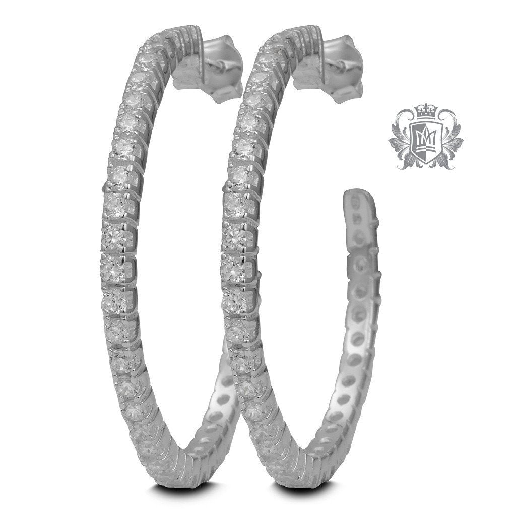 Cubic Eternity Hoops (36mm) - Metalsmiths Sterling™ Canada