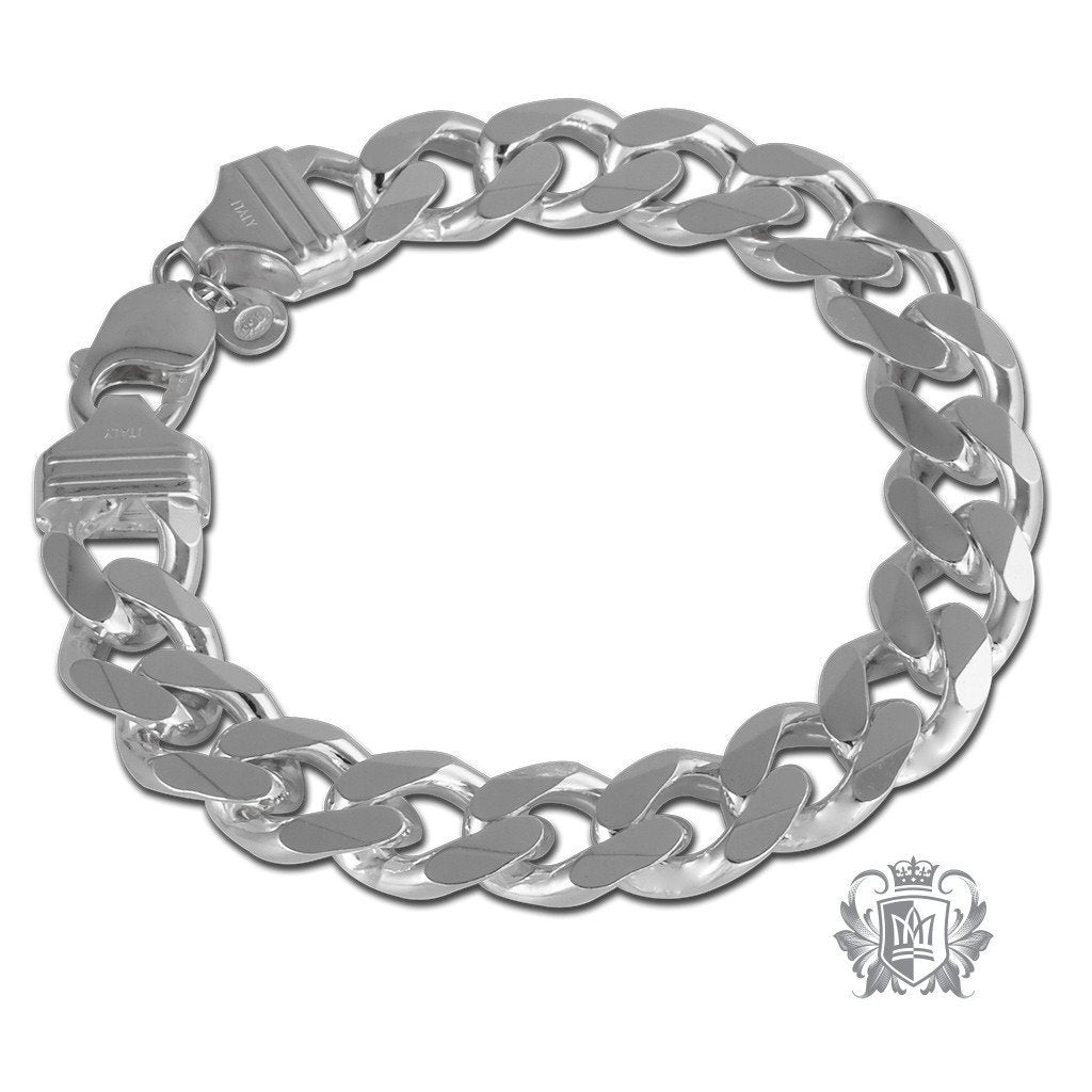 Extra Large Curb Link Bracelet (350 Gauge) - Metalsmiths Sterling™ Canada