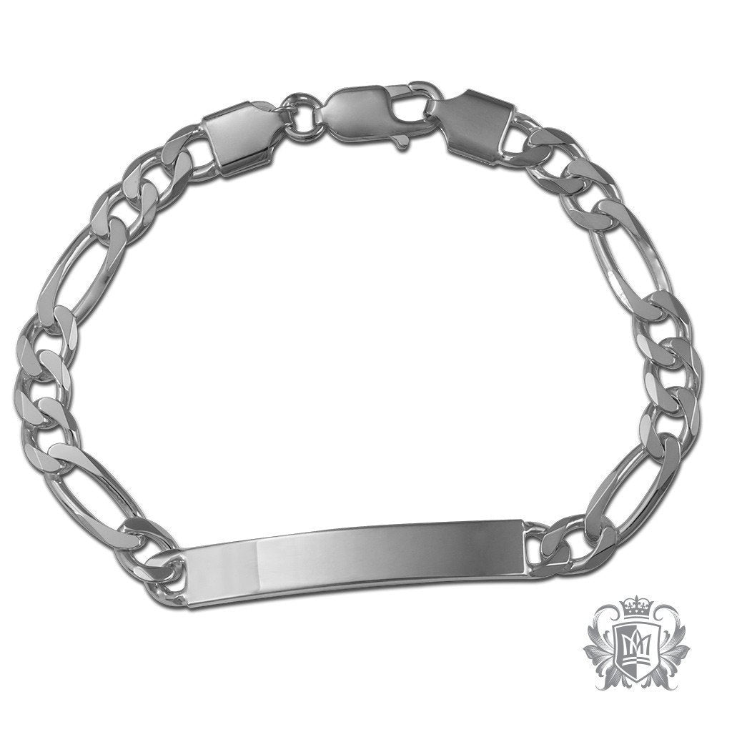 Medium Figaro ID Bracelet (180 Gauge) - Metalsmiths Sterling™ Canada