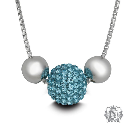 Shambhala Necklace - Aquamarine Necklaces - 1