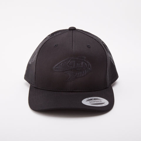 Team Logo Mesh Snapback - BLACKOUT (limited edition)