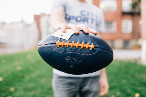 Big Blue Football by Leather Head Sports