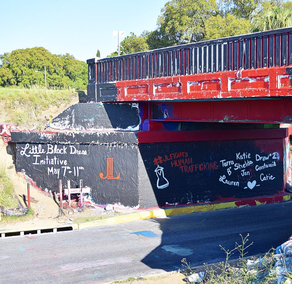 "Join The Graffiti Bridge and Pensacola Junior League's ""Little Black Dress,"" Initiative to Stop Human Trafficking."