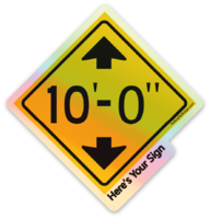 Here's Your Sign Sticker (Holographic)