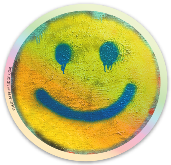 Smiley Face Sticker (Holographic)