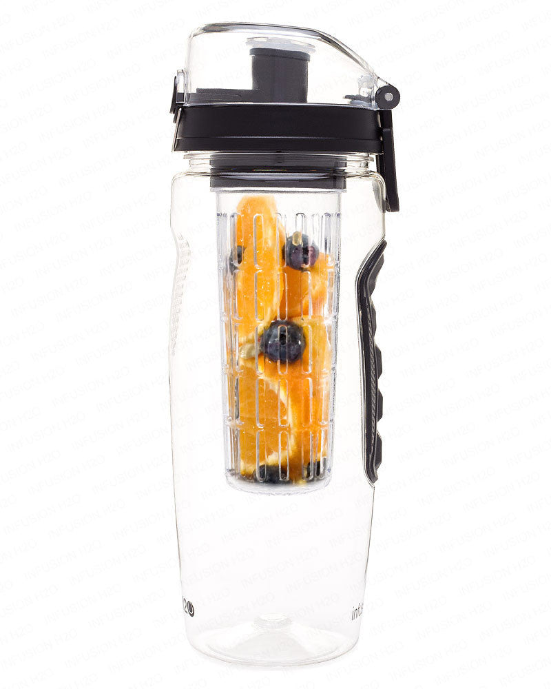 Black InfusionH2O 32 Oz Fruit Infused Water Bottle
