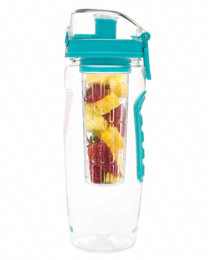 Teal InfusionH2O 32 Oz Fruit Infused Water Bottle