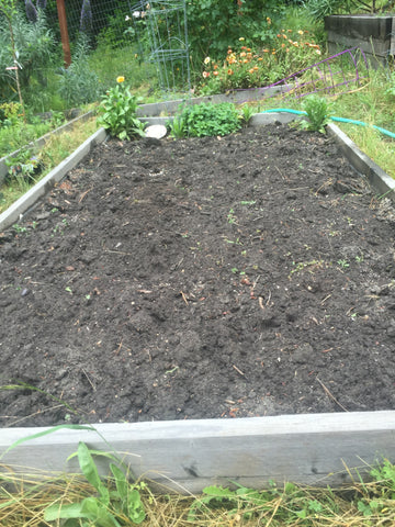 Finished bed ready to plant