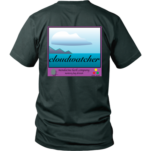Cloudwatcher T shirts back logo
