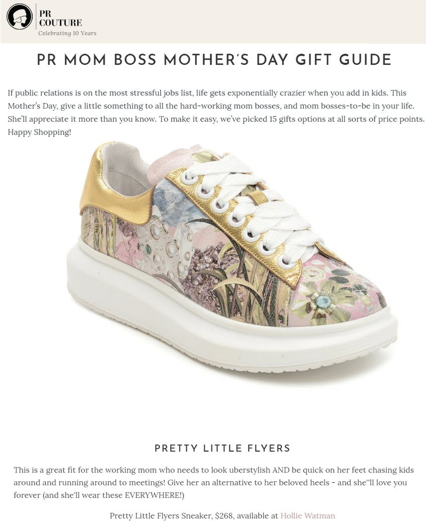 Hollie Watman Pretty Little Flyers Print Sneakers - PR Couture