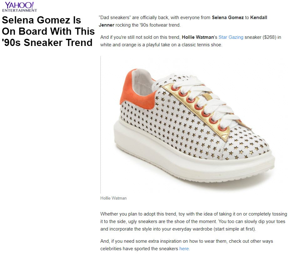 Hollie Watman Star Gazing Sneakers - White / Orange - Yahoo Entertainment