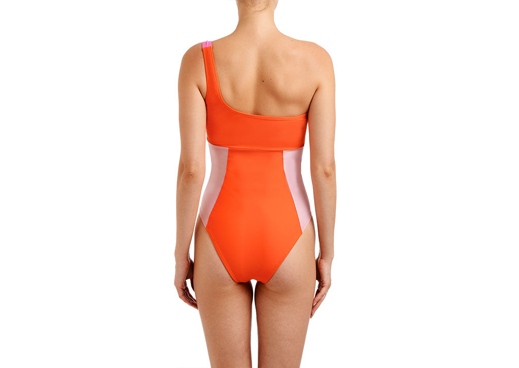 KOI SHOULDER ONE PIECE-MILKSHAKE COMBO