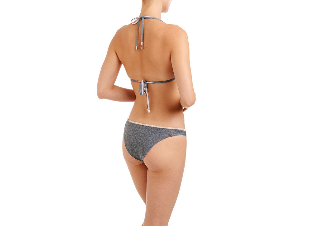 CULT BIKINI-REVERSIBLE Heather Grey