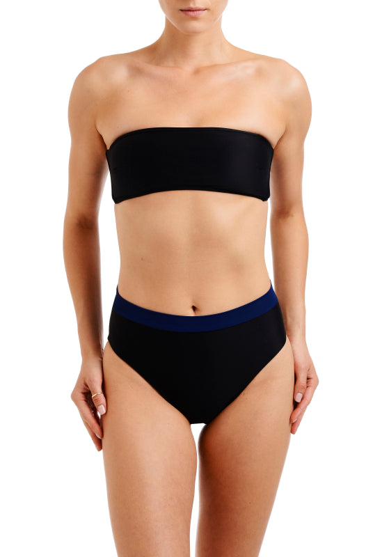 HIGH WAIST BOTTOM Black + Navy