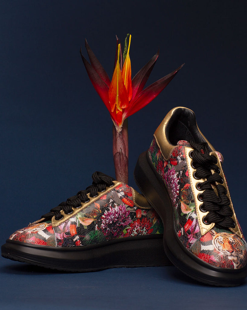 Garden of Eden Print Sneakers