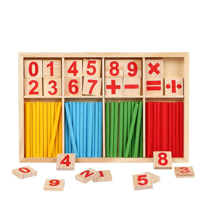 Wooden Montessori early education math toys