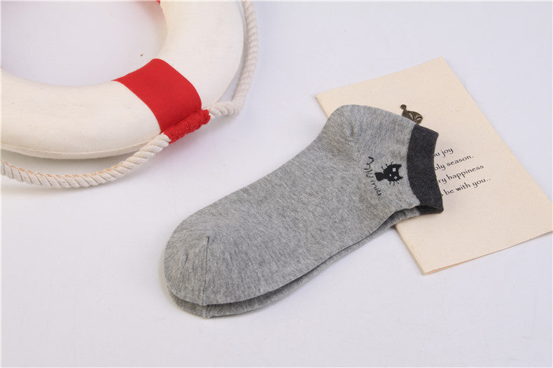 Summer CAT Warm comfortable cotton bamboo fiber girl women's socks ankle low female