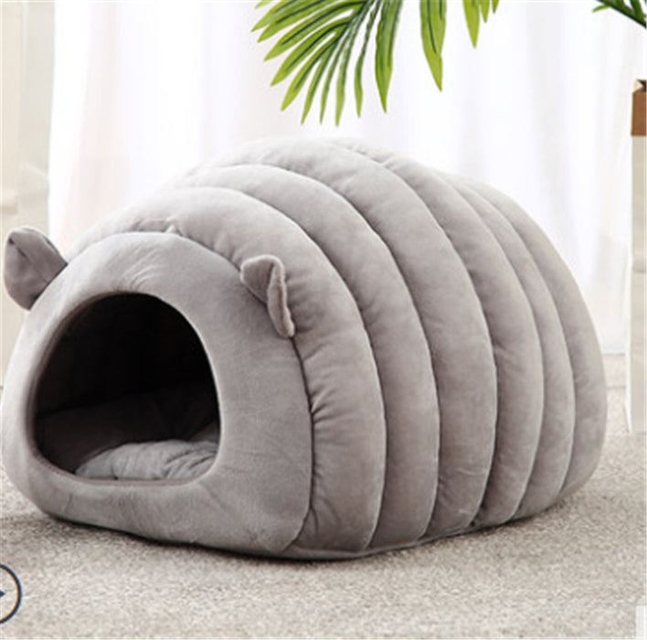 Sheep nest cat litter mat pet cat litter cat house cat bed semi-closed cat sleeping bag