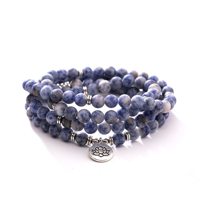 Natural blue point stone bracelet
