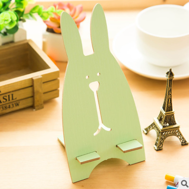 Cartoon Wooden Universal Portable Light Weight Rabbit Mobile Phone Tablet Desktop Holder Stand Lazy bracket For iPhone 7 Xiaomi