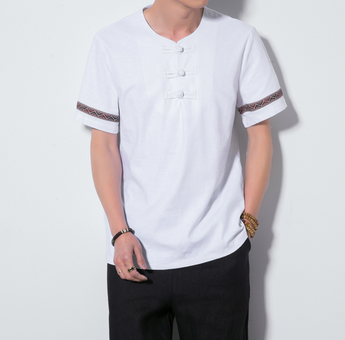 Men's round neck cotton