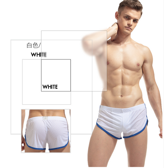 Men's underwear mesh hole trousers male loose boxer large size breathable sports underwear comfortable sleep pants