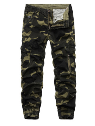 Camouflage casual pants Foreign trade men's leg pants fashion wild trousers