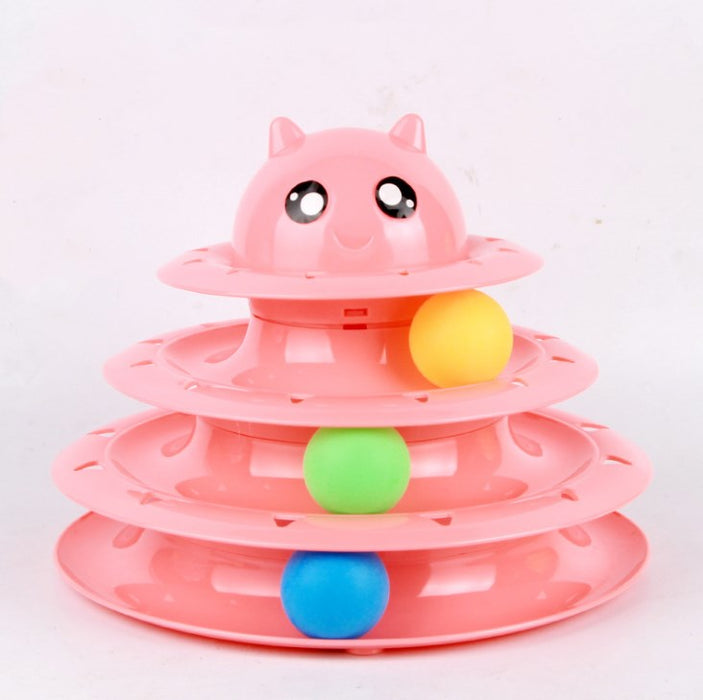 Cat toy cat turntable ball three-layer cat tower