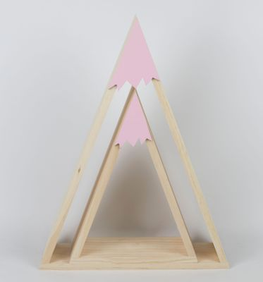 Wooden snow hill triangle house frame commodity shelf