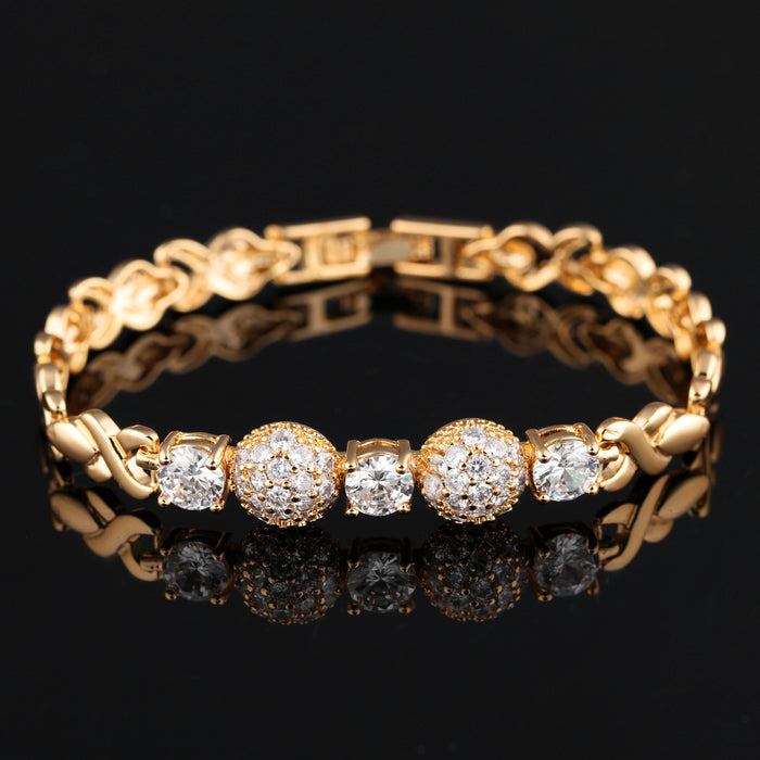 Flash diamond caring ladies bracelet