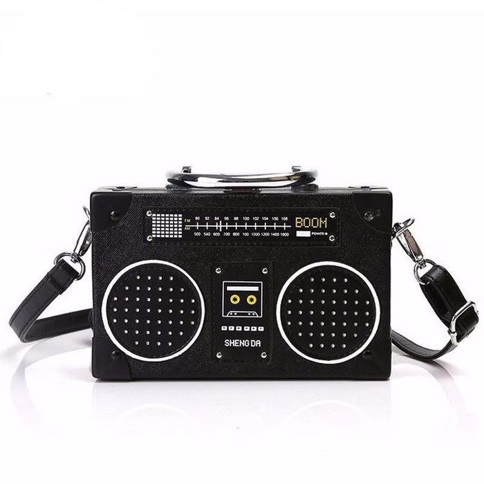Back to 80's  Radio Style Clutch Bag