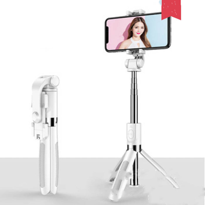 Tripod Selfie Stick Mobile Universal Live Triangle Bracket One Bluetooth Selfie Artifact