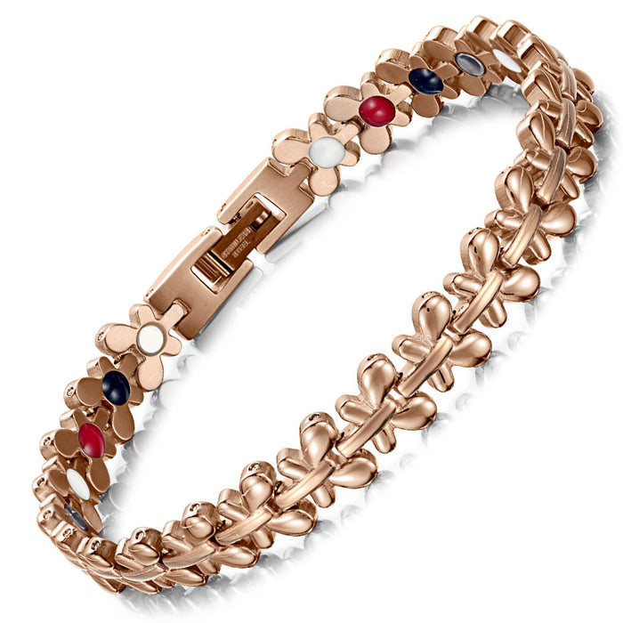 Lady magnetic pure titanium health bracelet