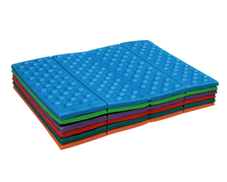 Four folding cushion portable light honeycomb XPE foam cushion single moisture-proof mini dirt-resistant mat