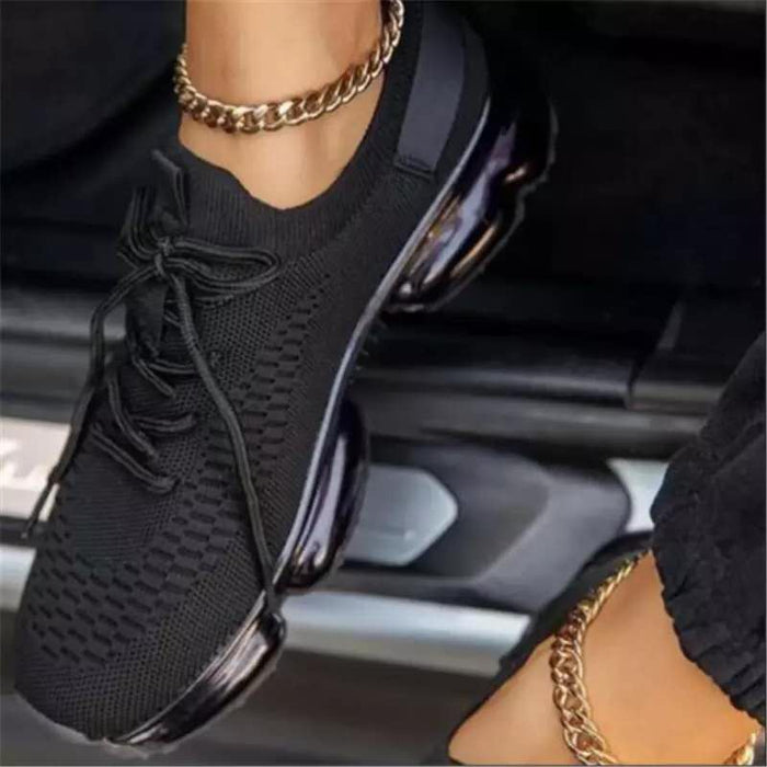 Casual shallow mesh sneakers single shoes